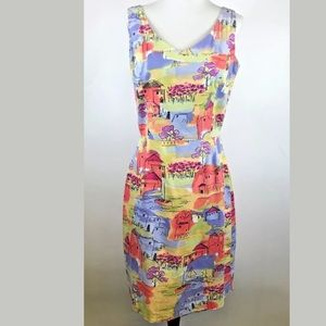 Coldwater Creek Watercolor Print Dress